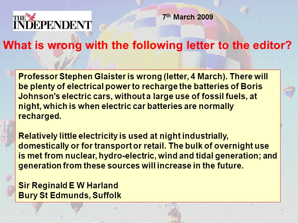 Professor Stephen Glaister is wrong (letter, 4 March).