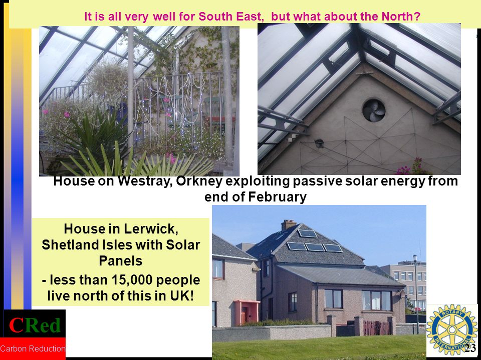 CRed Carbon Reduction 23 House in Lerwick, Shetland Isles with Solar Panels - less than 15,000 people live north of this in UK.