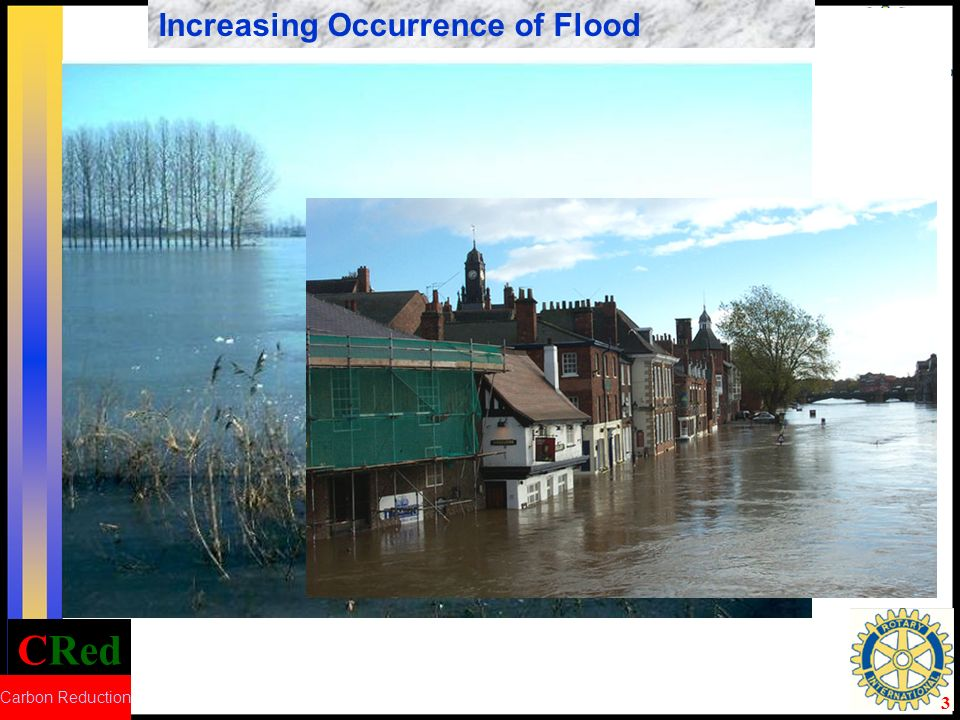 CRed Carbon Reduction 3 Increasing Occurrence of DroughtIncreasing Occurrence of Flood