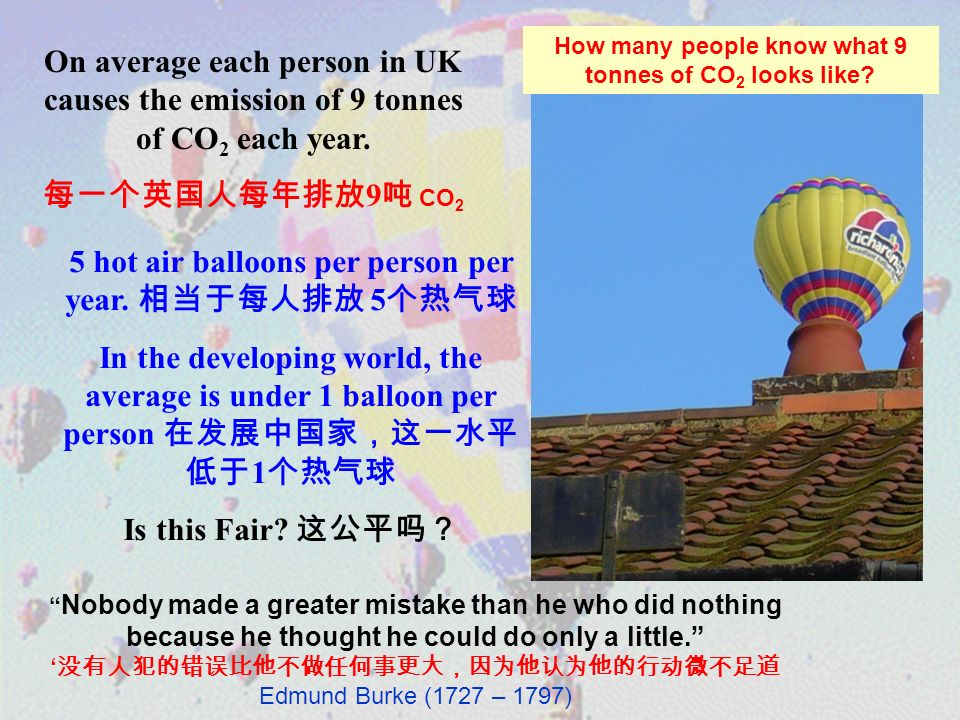 5 hot air balloons per person per year.