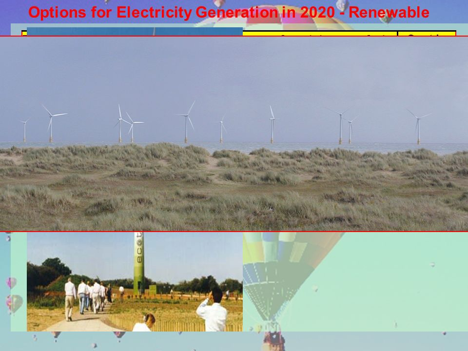 Options for Electricity Generation in 2020 - Renewable
