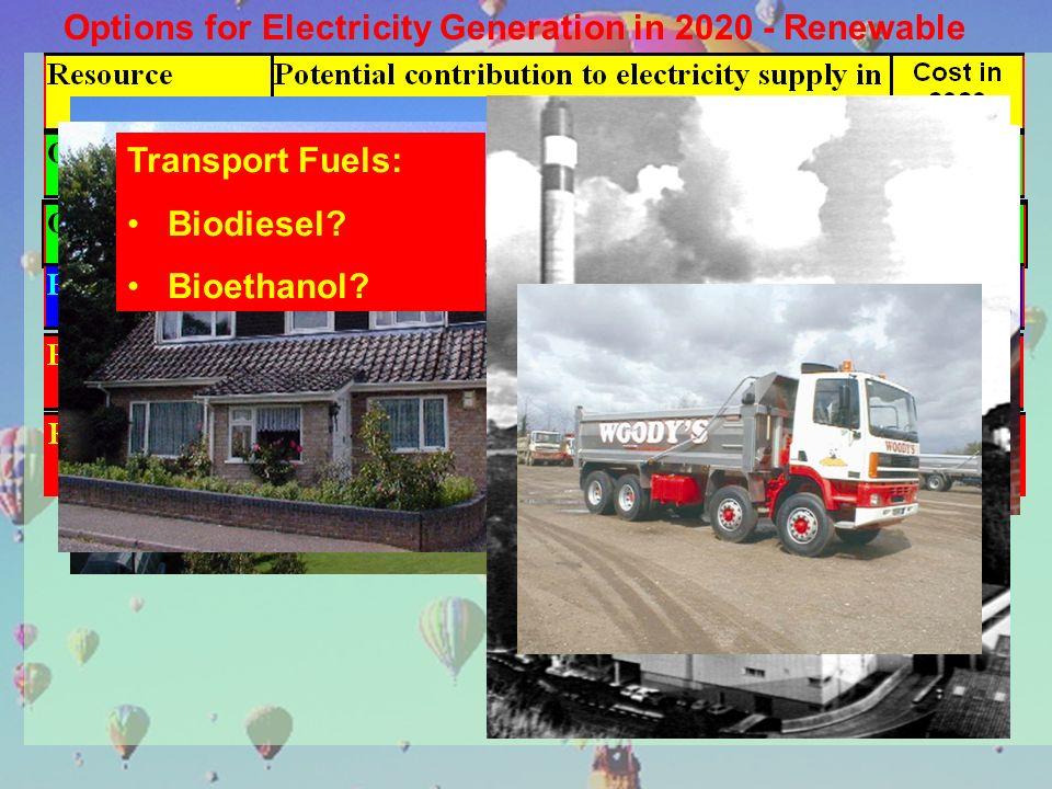 Transport Fuels: Biodiesel? Bioethanol?