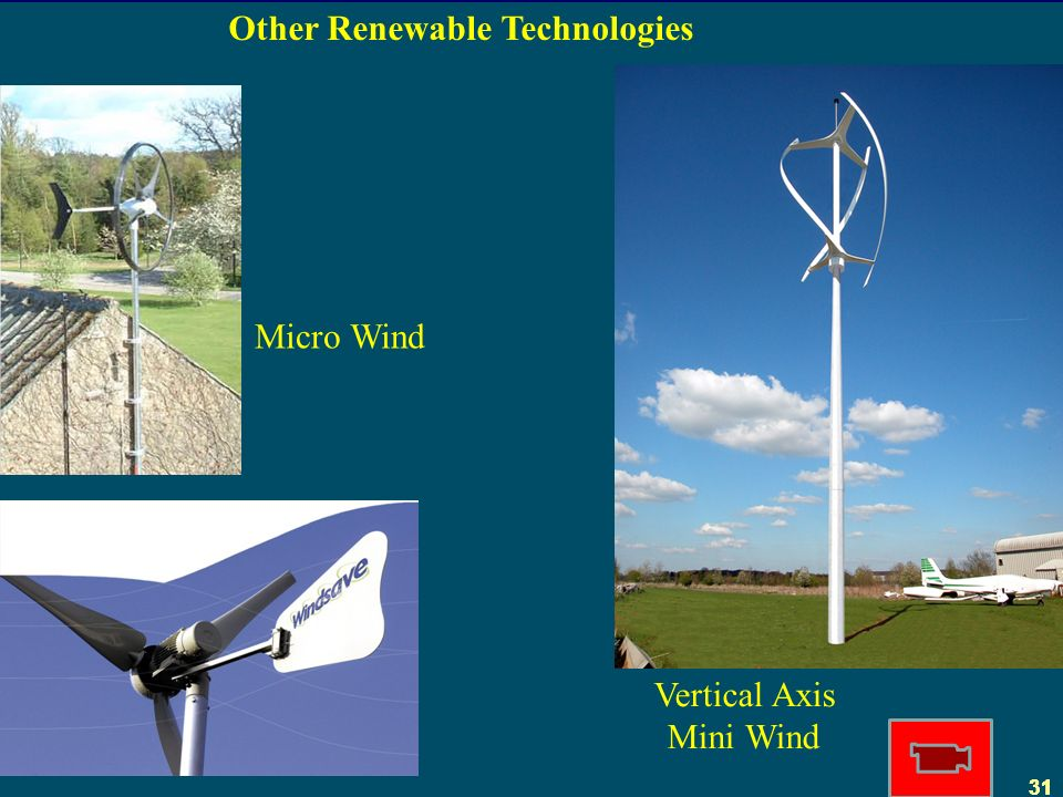 31 Other Renewable Technologies Micro Wind Vertical Axis Mini Wind