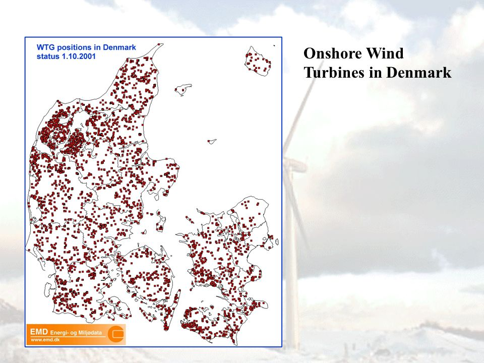 Onshore Wind Turbines in Denmark