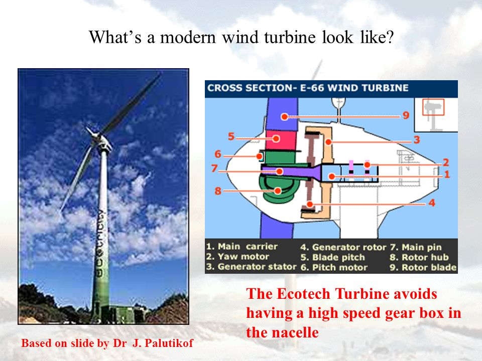 Spacing of Wind Turbines Interference between adjacent turbines occurs if spacing is less than 7 - 10 blade diameters - The Park Effect.