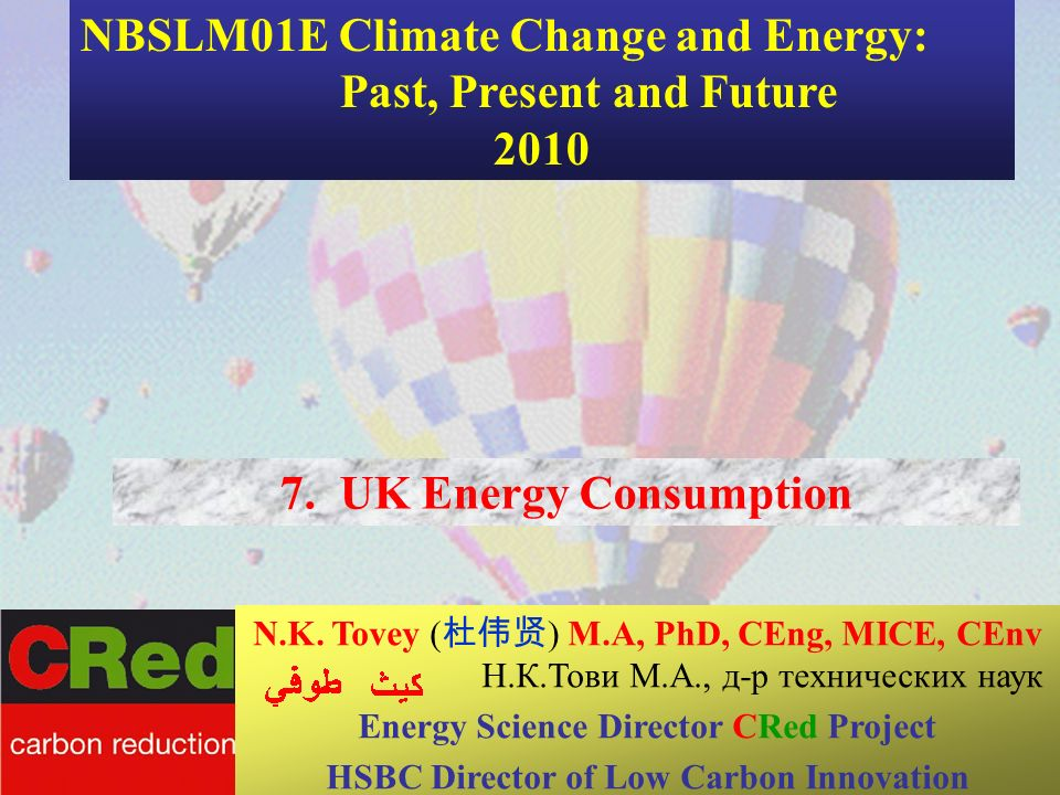 33 7. UK Energy Consumption Maxine Narburgh CSERGE N.K.