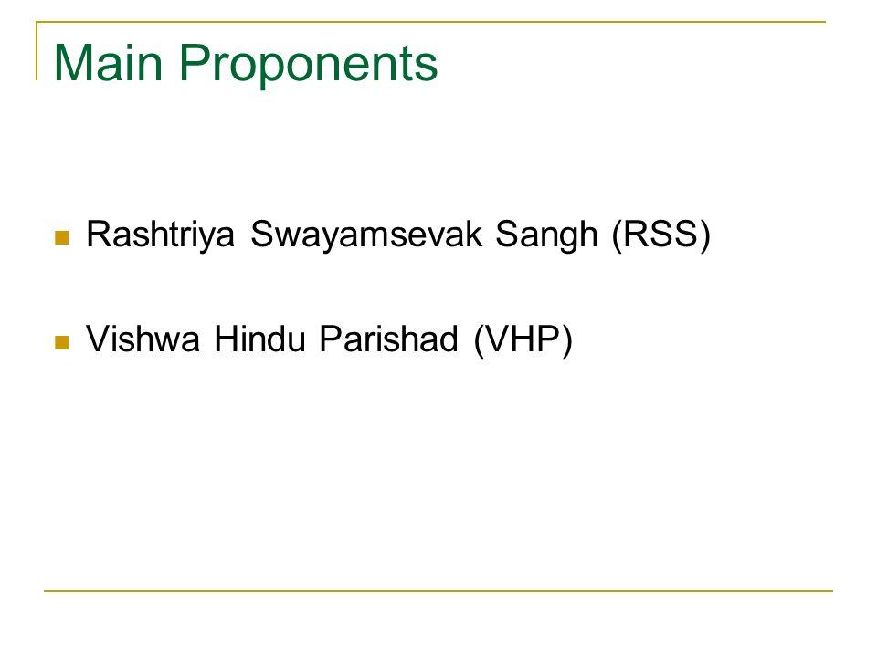 Rashtriya Swayamsevak Sangh (RSS) Vishwa Hindu Parishad (VHP)