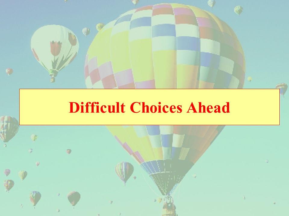 Difficult Choices Ahead
