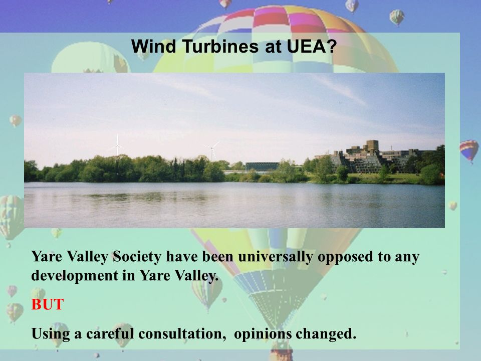 Wind Turbines at UEA.