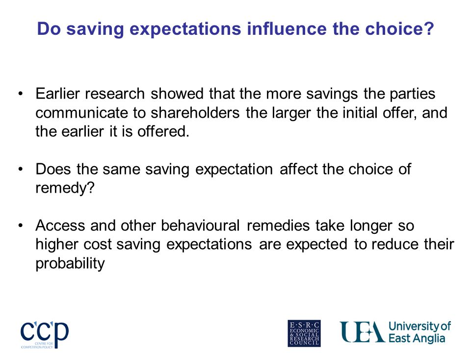 Do saving expectations influence the choice.