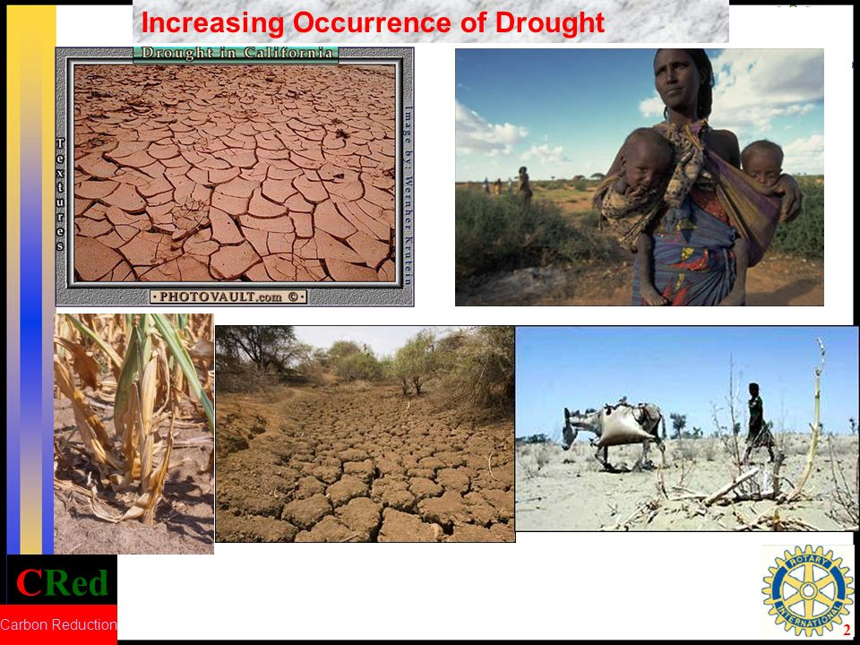 CRed Carbon Reduction 2 Increasing Occurrence of Drought
