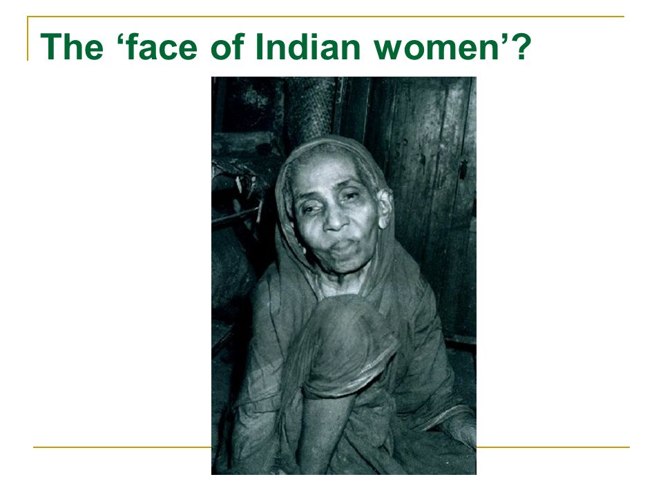 The face of Indian women?