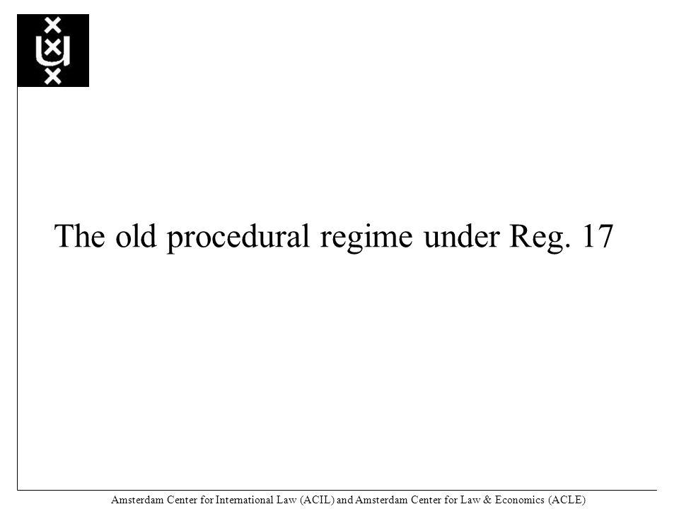 Amsterdam Center for International Law (ACIL) and Amsterdam Center for Law & Economics (ACLE) Article 9 (1) Reg.
