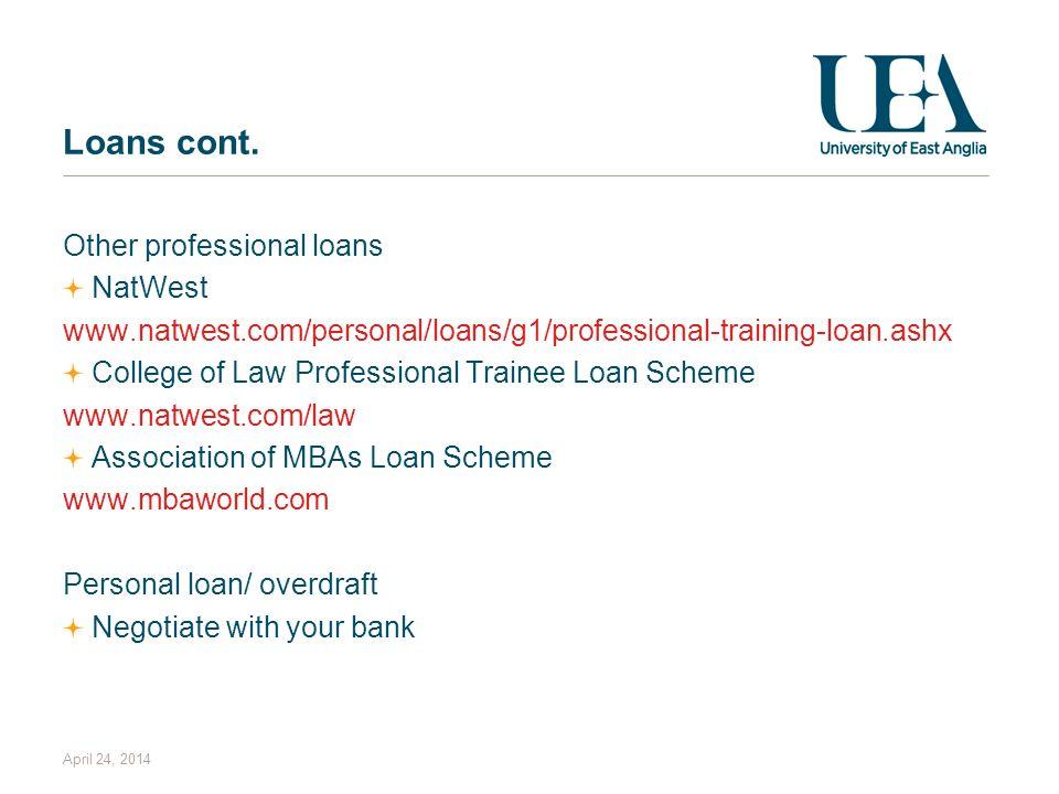 April 24, 2014 Loans cont.