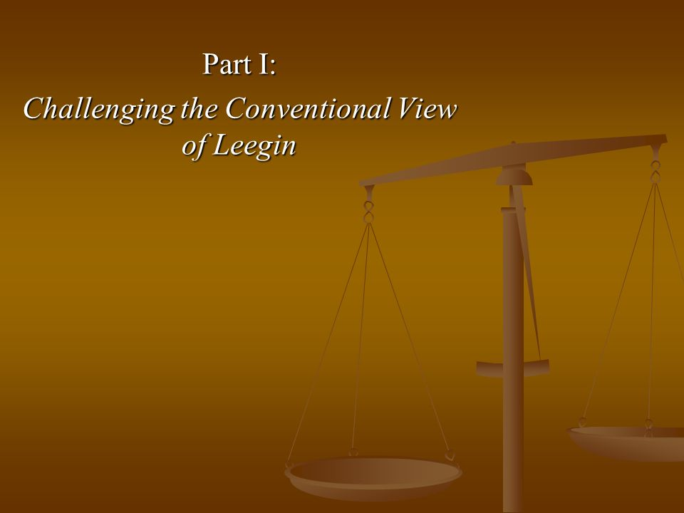 Part I: Challenging the Conventional View of Leegin