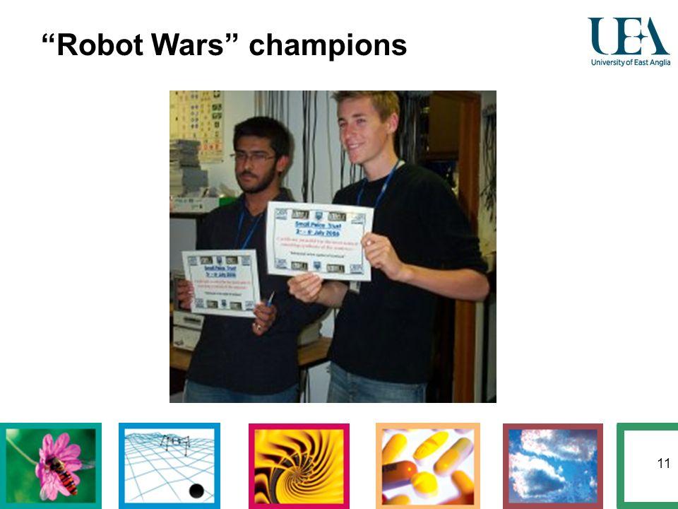 11 Robot Wars champions