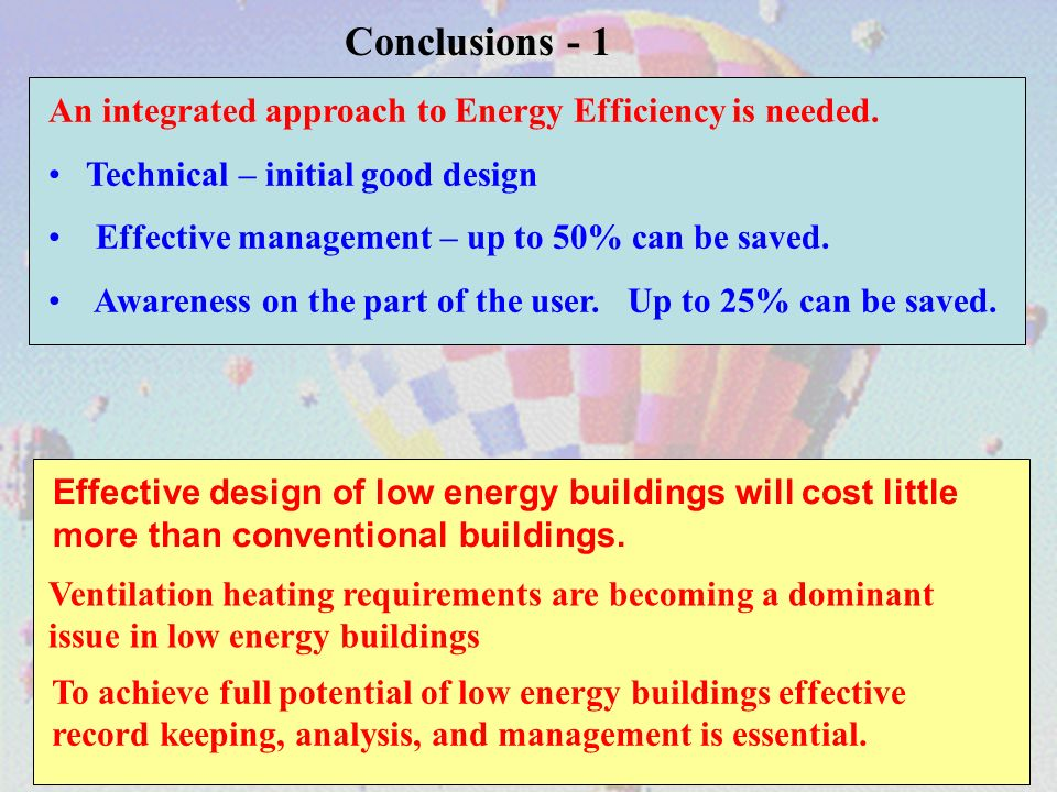 An integrated approach to Energy Efficiency is needed.