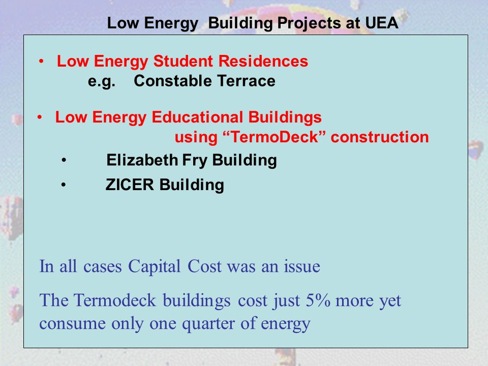Low Energy Student Residences e.g.