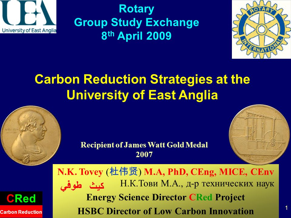 2 Welcome to the University of East Anglia School of Environmental Sciences A 5** Research department Rated in top 5 Environmental Sciences Department in world Rated Excellent in Teaching Many World Renowned Centres –Tyndall Centre, Climate Research Unit –CRed – Carbon Reduction Project –etc.