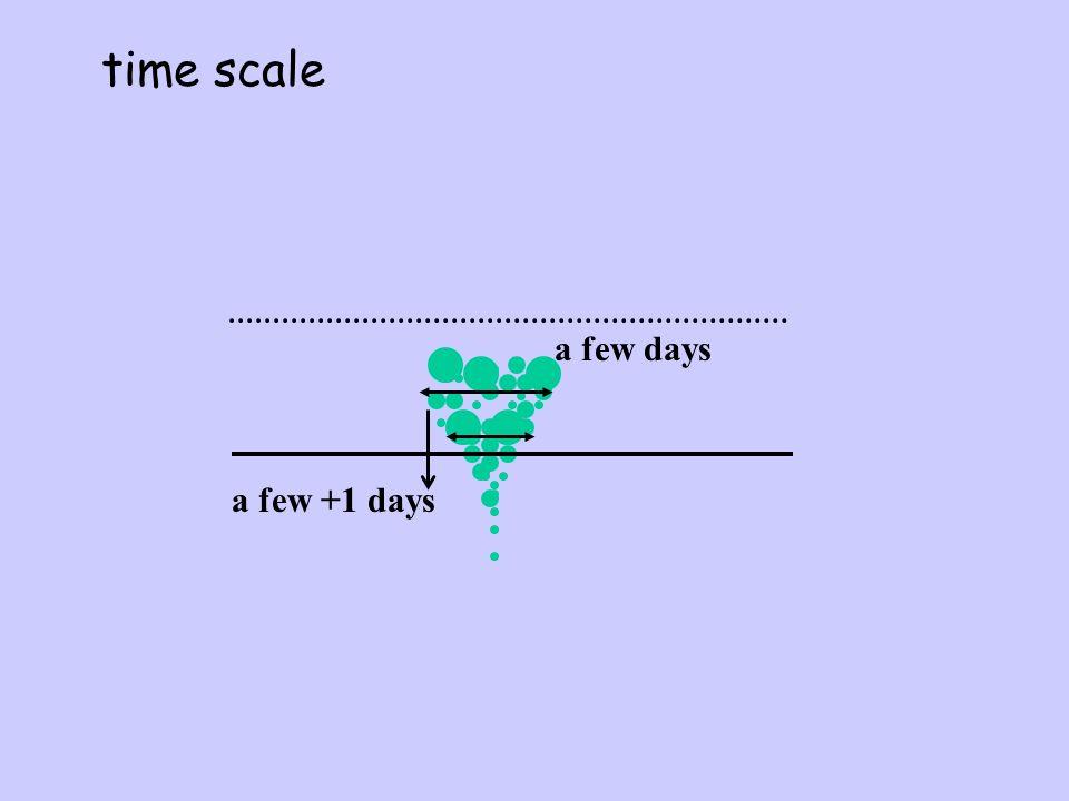 time scale a few +1 days a few days