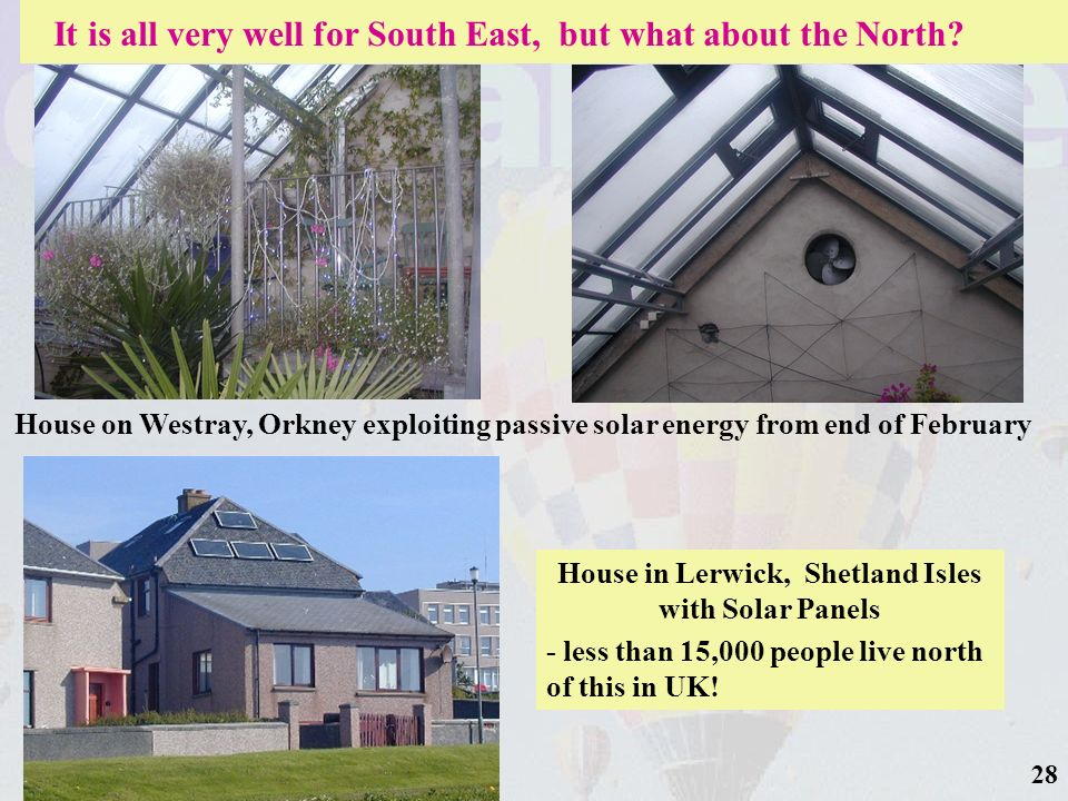 28 House in Lerwick, Shetland Isles with Solar Panels - less than 15,000 people live north of this in UK.
