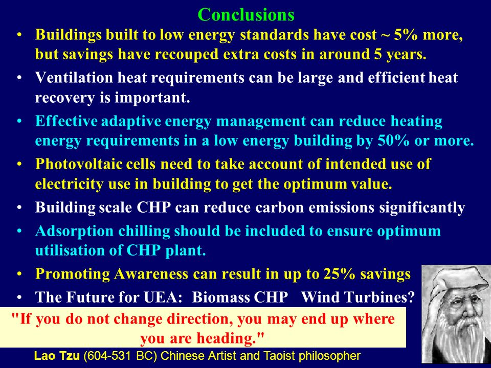 35 Conclusions Buildings built to low energy standards have cost ~ 5% more, but savings have recouped extra costs in around 5 years.