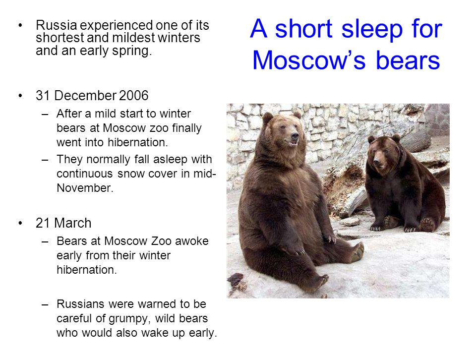 Russia experienced one of its shortest and mildest winters and an early spring.