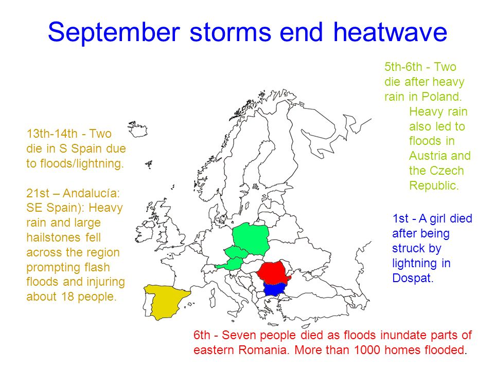 September storms end heatwave 1st - A girl died after being struck by lightning in Dospat.