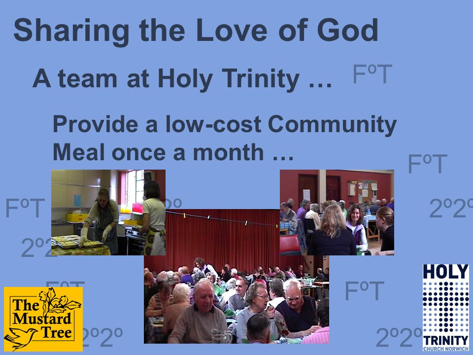 FºT 2º2º FºT 2º2º FºT 2º2º Jubilee Acts of Kindness Fremantle Churches … Paid rent arrears to help people stay in their homes … Restored water and power to homes by paying off debts … A gift of kindness because God loves you and is for you 2º2
