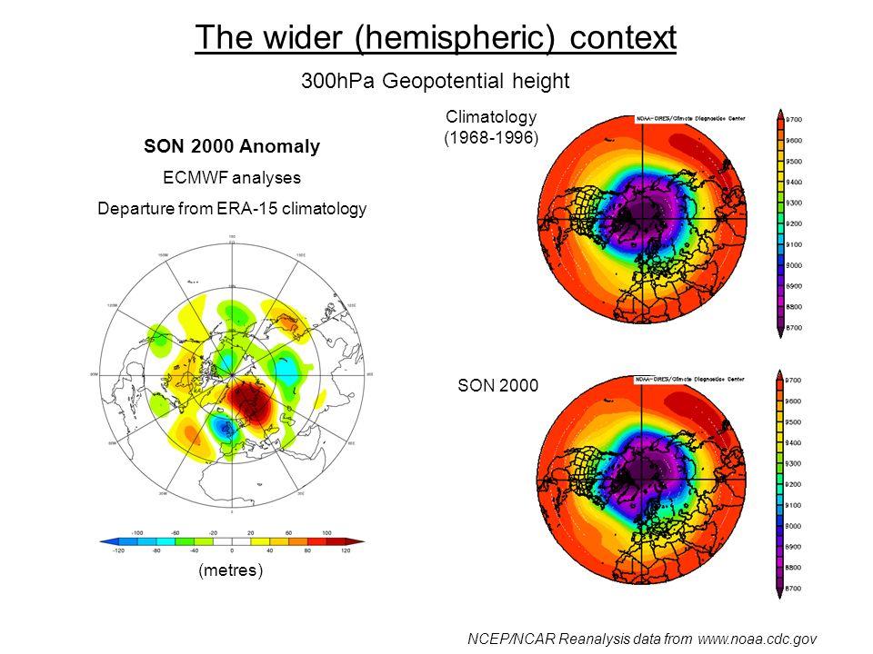 Downstream Development Meridional wind anomaly 250hPa, 45-60N JA 2002 26 July – 26 Aug.