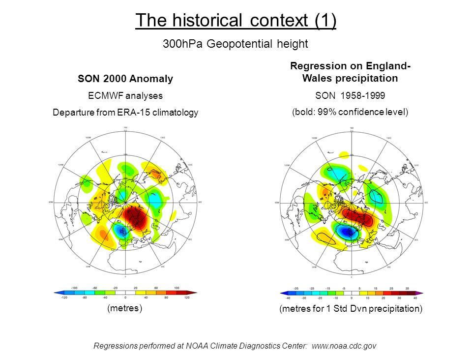 Autumn 500hPa height composites with EWP Data/plots at NOAA Climate Diagnostics Center: www.noaa.cdc.gov Precipitation anomaly > 100mm Precipitation anomaly > 50mm Precipitation anomaly < -100mm Precipitation anomaly < -50mm