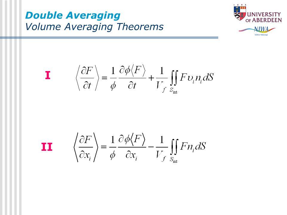 Double Averaging Volume Averaging Theorems I II