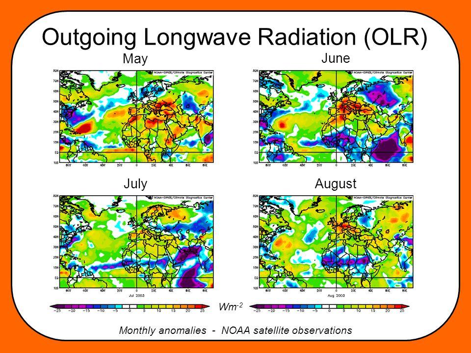 Sea Surface Temperature anomalies Response to radiative anomalies? degC