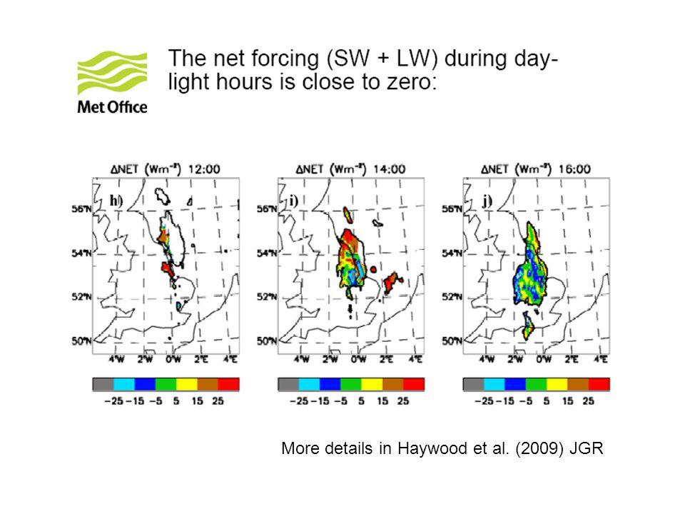 More details in Haywood et al. (2009) JGR