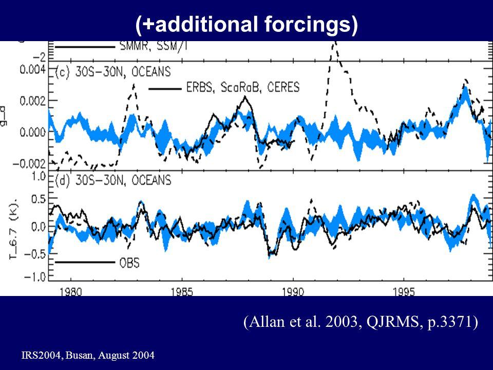 IRS2004, Busan, August 2004 (+additional forcings) (Allan et al. 2003, QJRMS, p.3371)