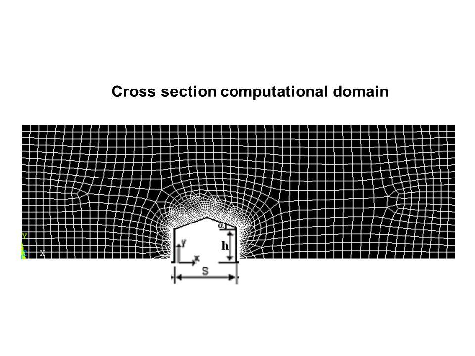 Cross section computational domain