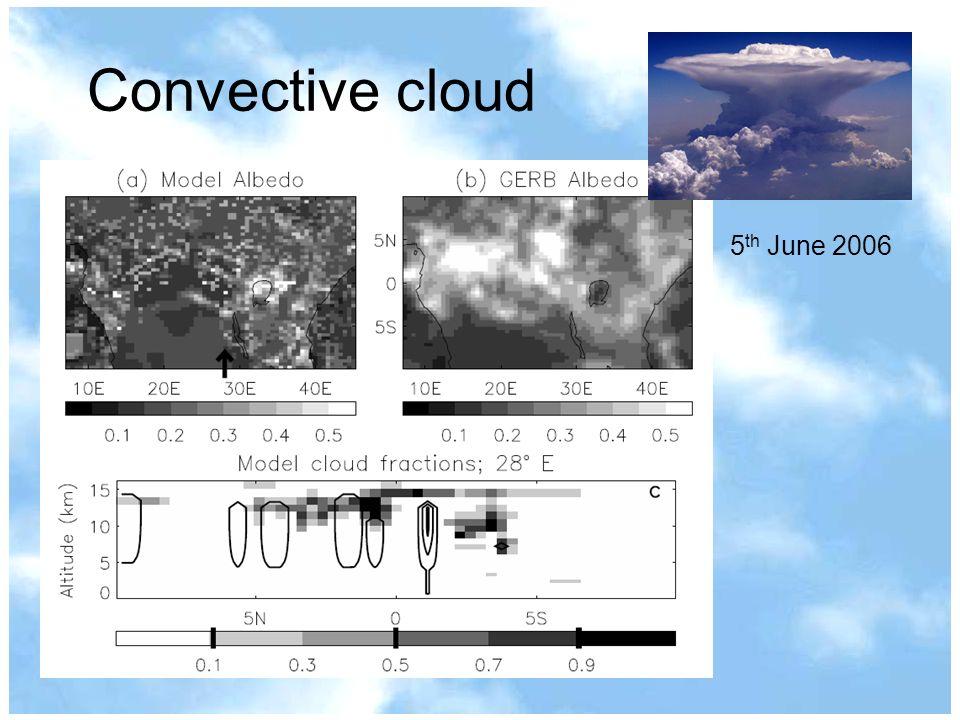Convective cloud 5 th June 2006