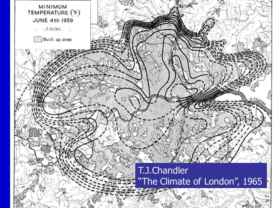 T.J.Chandler The Climate of London, 1965