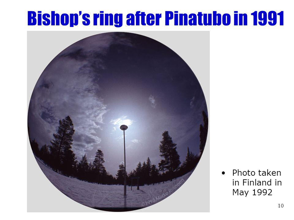 10 Bishops ring after Pinatubo in 1991 Photo taken in Finland in May 1992