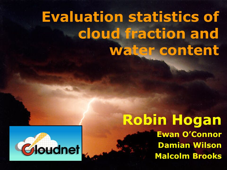 Overview Cloudnet level 3 data A solution to the problem of evaluating high cloud.