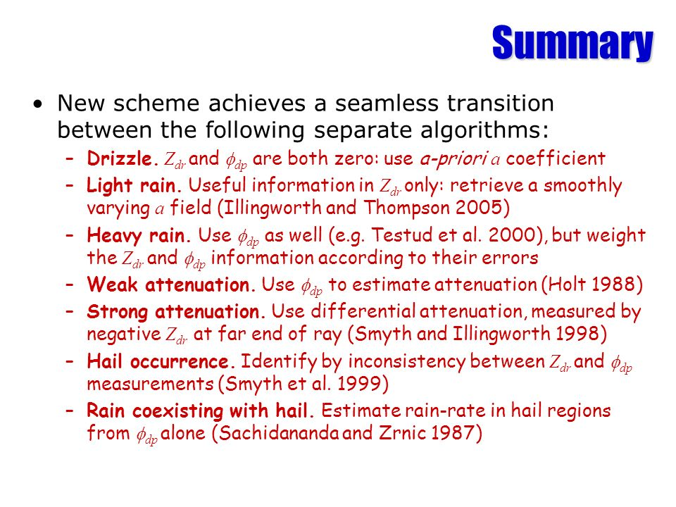 Summary New scheme achieves a seamless transition between the following separate algorithms: –Drizzle.