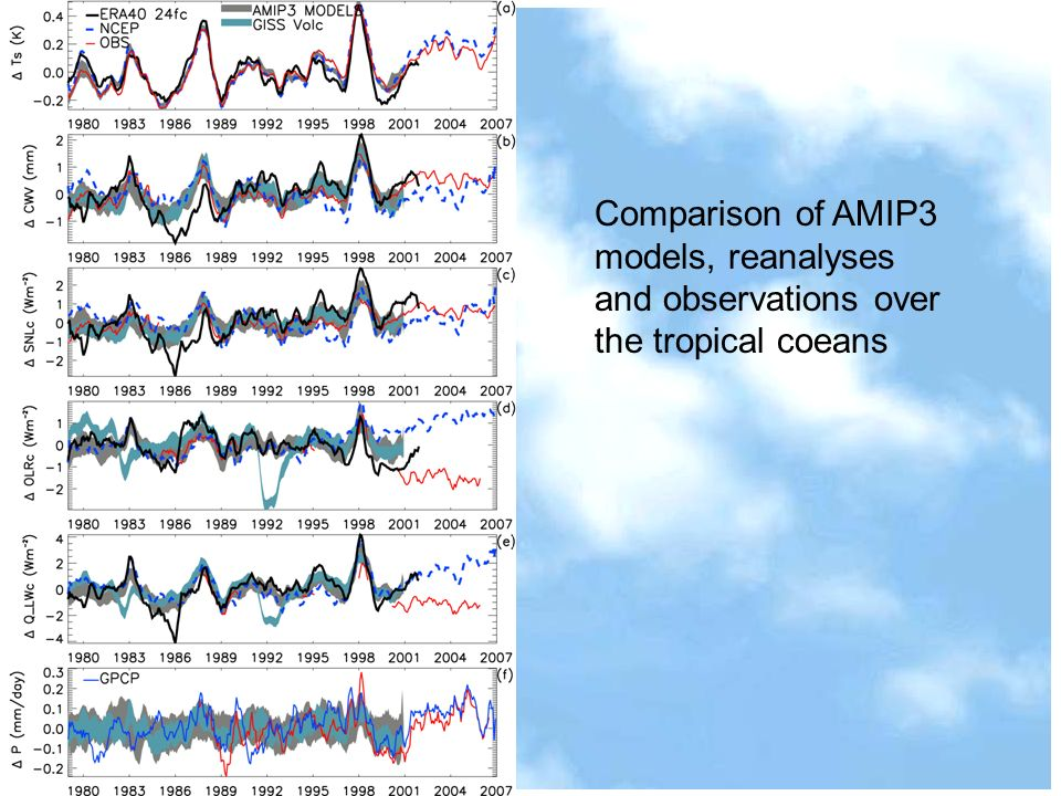 Comparison of AMIP3 models, reanalyses and observations over the tropical coeans