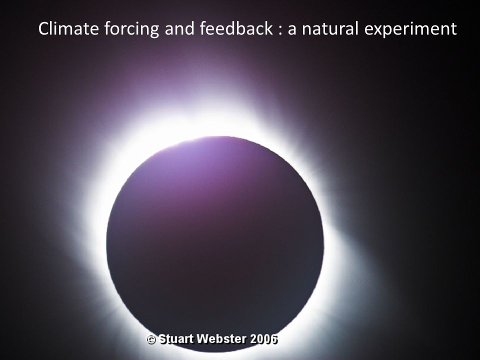 Climate forcing and feedback : a natural experiment