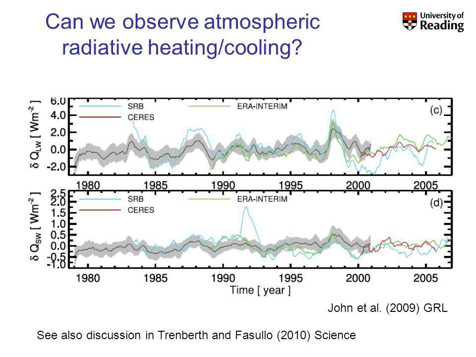 Can we observe atmospheric radiative heating/cooling.
