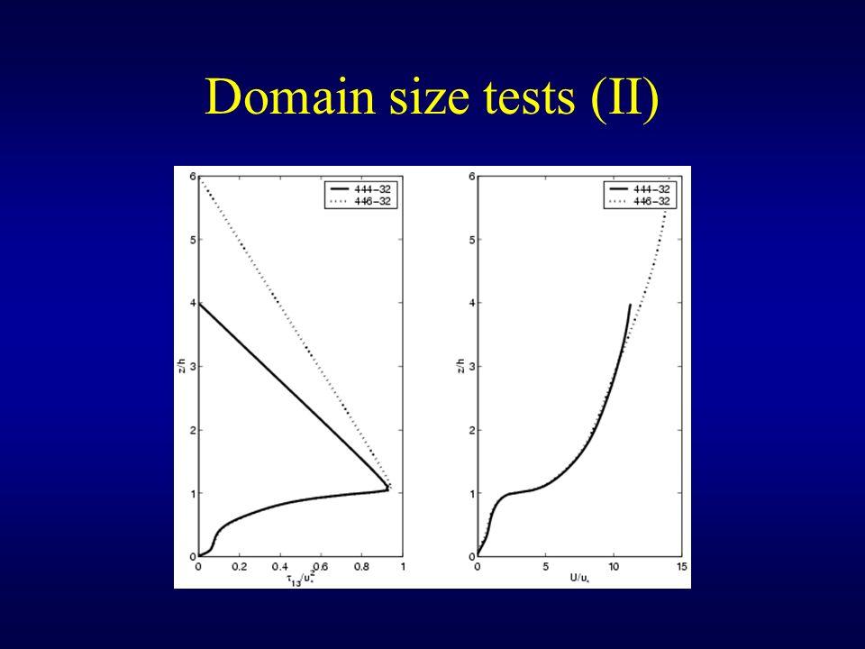 Domain size tests (II)