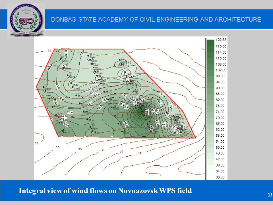 13 Integral view of wind flows on Novoazovsk WPS field