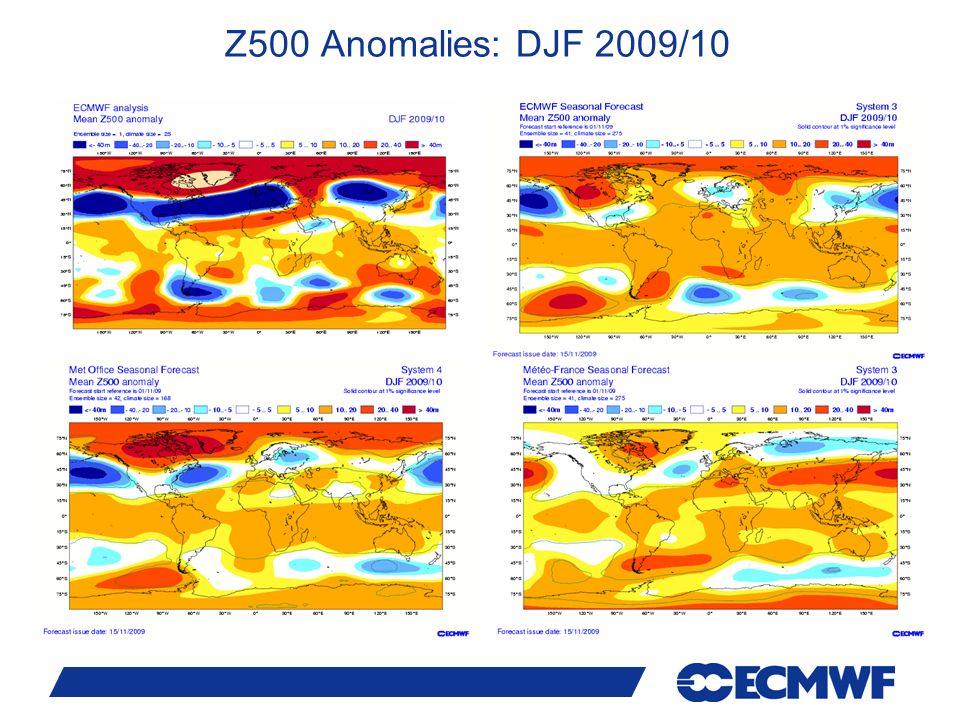 24 Z500 Anomalies: DJF 2009/10
