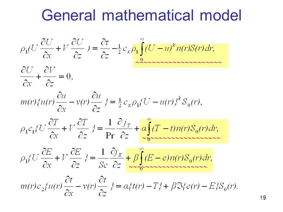 19 ~~~~~~~~~~~~~~~~~~~ ~~~~~~~~~~~~~~~~~~~~~ General mathematical model ~~~~~~~~~~~~~~~~~~~
