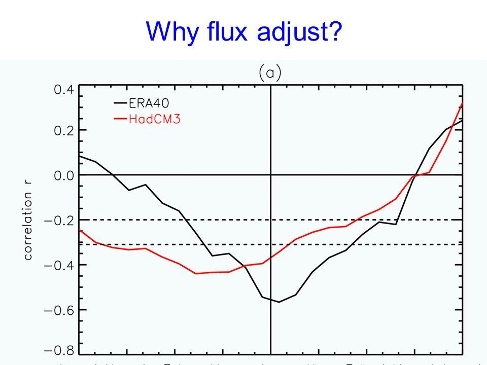 Why flux adjust?