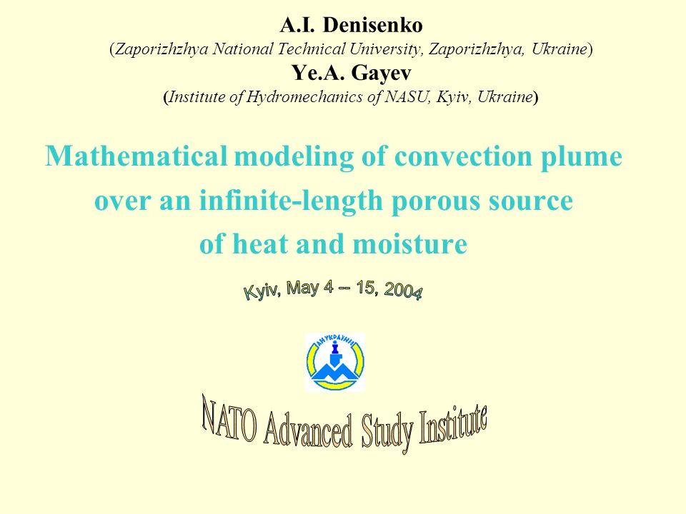 A.I. Denisenko (Zaporizhzhya National Technical University, Zaporizhzhya, Ukraine) Ye.A.
